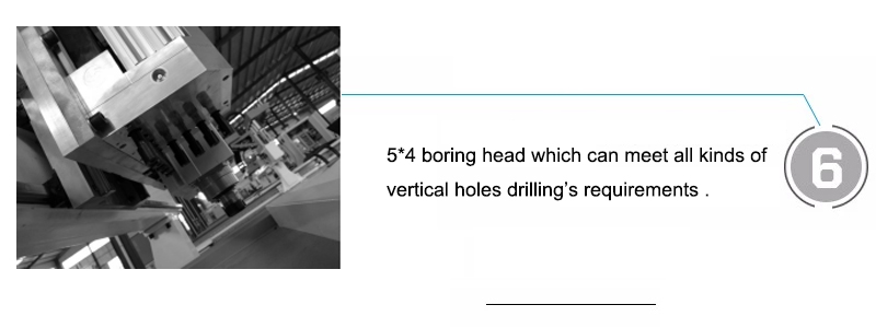 5*4 boring head which can meet all kinds of vertical holes drilling's requirements .