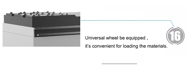 Universal wheel be equipped , it's convenient for loading the materials.