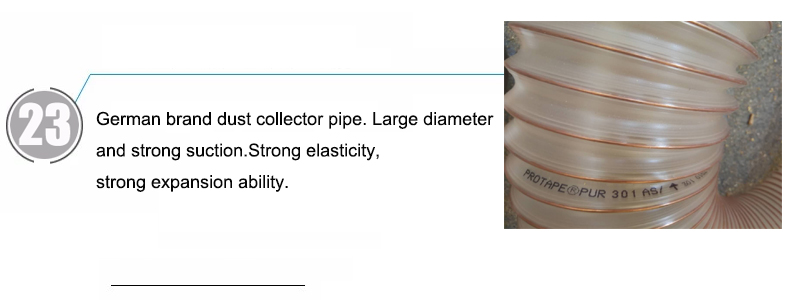 German brand dust collector pipe. Large diameter and strong suction.Strong elasticity, strong expansion ability.