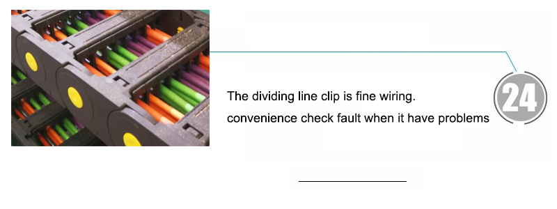 The dividing line clip is fine wiring.convenience check fault when it have problems