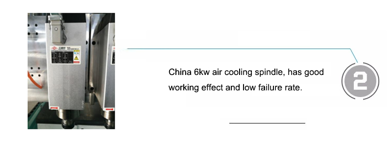 China 6kw air cooling spindle, has good working effect and low failure rate.