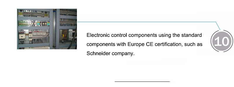 Electronic control components using the standard components with Europe CE certification, such as Schneider company.