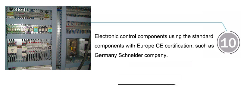 Electronic control components using the standard components with Europe CE certification, such as Germany Schneider company.