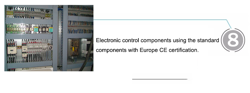 Electronic control components using the standard components with Europe CE certification.
