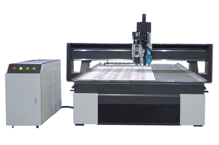 M5S cnc router with CCD System and Oscillating knife