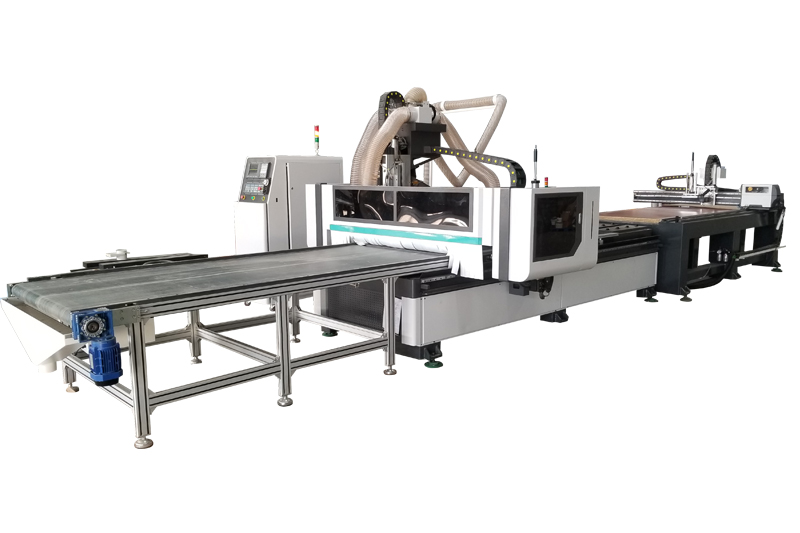 ATC cnc nesting machine with automatic label device
