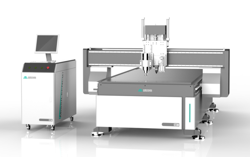 M7 CNC Router Machine with CCD and Oscillating knife